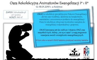 Rekolekcje specjalistyczne Diakonii Ewangelizacji – ORAE I i II stopnia