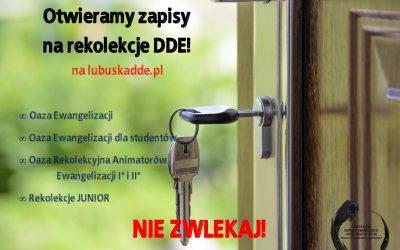 ZAPISY NA REKOLEKCJE DDE!